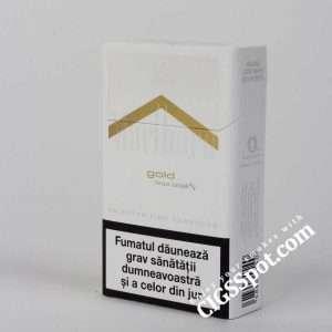 Buy Marlboro Gold for 4.4$ per pack. Free Shipping. Nicotine - 0.5 mg, Tar - 6 mg. Buy quality cigarettes at cheap price at CigsSpot.com