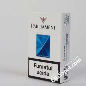 Buy Parliament Aqua Blue for 4.8$ per pack. Free Shipping. Nicotine - 0.5 mg, Tar - 6 mg. Buy quality cigarettes at cheap price at CigsSpot.com